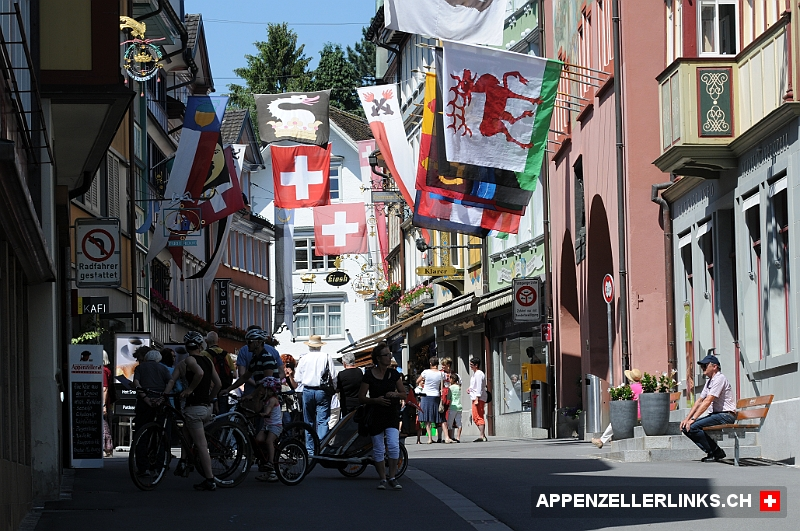 Touristenmagnet Hauptgasse in Appenzell